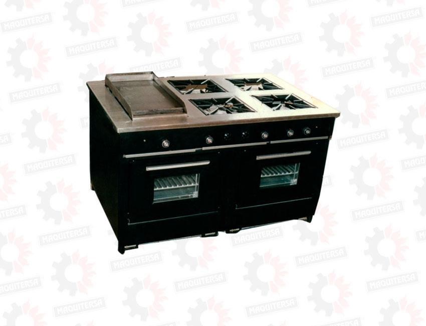 Cocina 4 hornillas con 2 hornos maquitersa - Plancha para cocina a gas ...