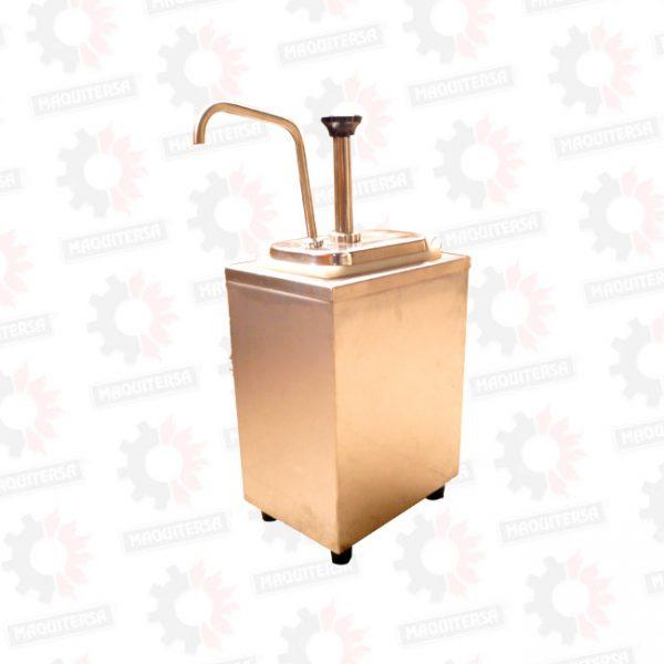 Caja térmica para una bomba de salsas