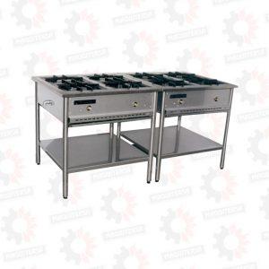 Cocina a gas 4 hornillas lineal