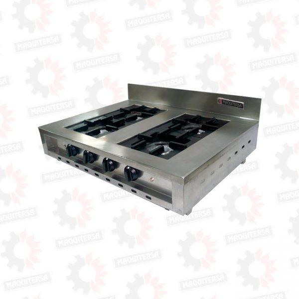 Cocina a gas 4 hornillas sobre mesa