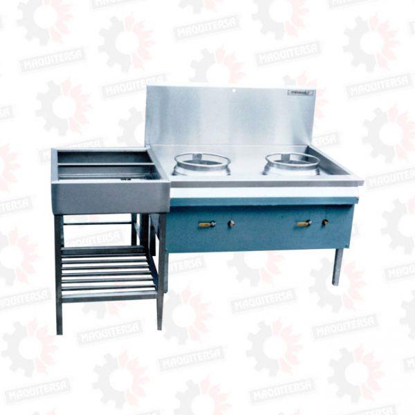 Cocina con quemador turbo simple