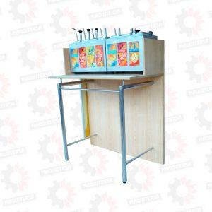 Mueble para isla de salsas