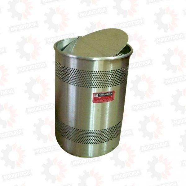 Papelera cilindrica con tapa vaiven