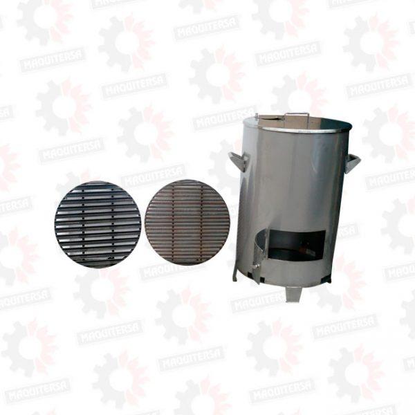 Parrilla cilindrica al carbon domestico