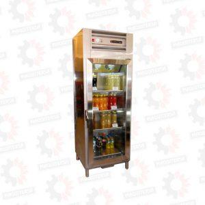 Refrigeradora vertical conservadora 1 puerta de vidrio para bebidas o tortas