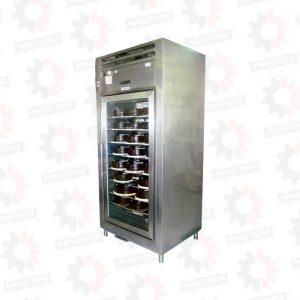 Refrigeradora conservadora vertical con una puerta de vidrio para tortas