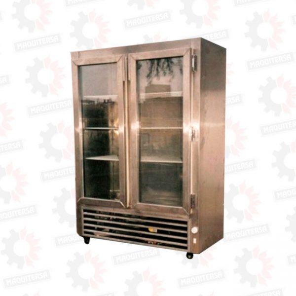 Refrigeradora vertical conservadora 2 puertas de vidrio